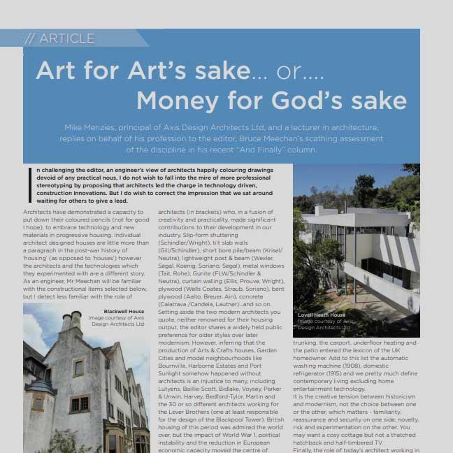 Art for art's sake or money for God's sake